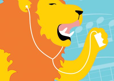Lion Graphic Illustration