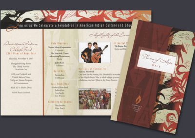American Indian College Fund Gala Invitation and Program